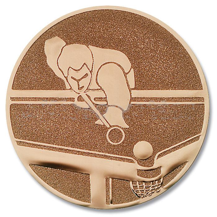 Emblem Billard bronze für Pokale und Medaillen