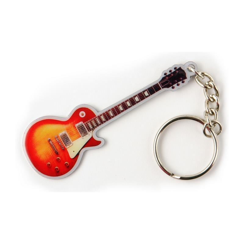 Schlüsselanhänger Gitarre sunburst
