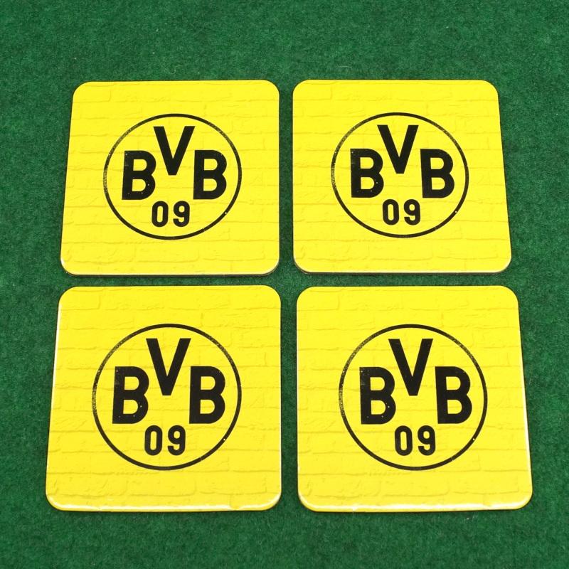 Borussia Dortmund Korkuntersetzer gelb 4er Set