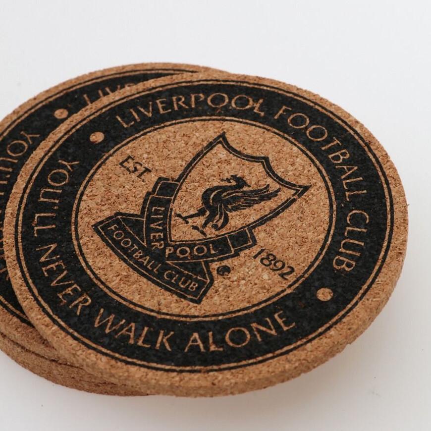 FC Liverpool Untersetzer 4er-Set Kork