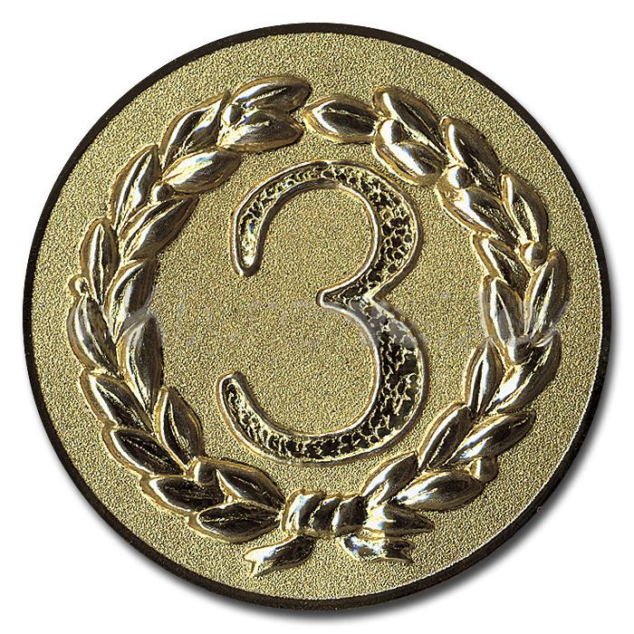 Emblem Platz 3 bronze für Medaillen-Träger