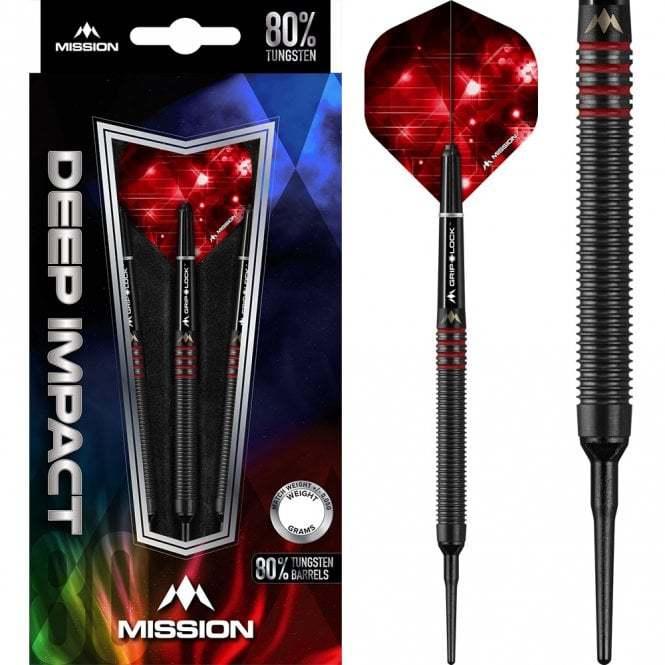Mission Softdarts Deep Impact M3 schwarz/rot 18g