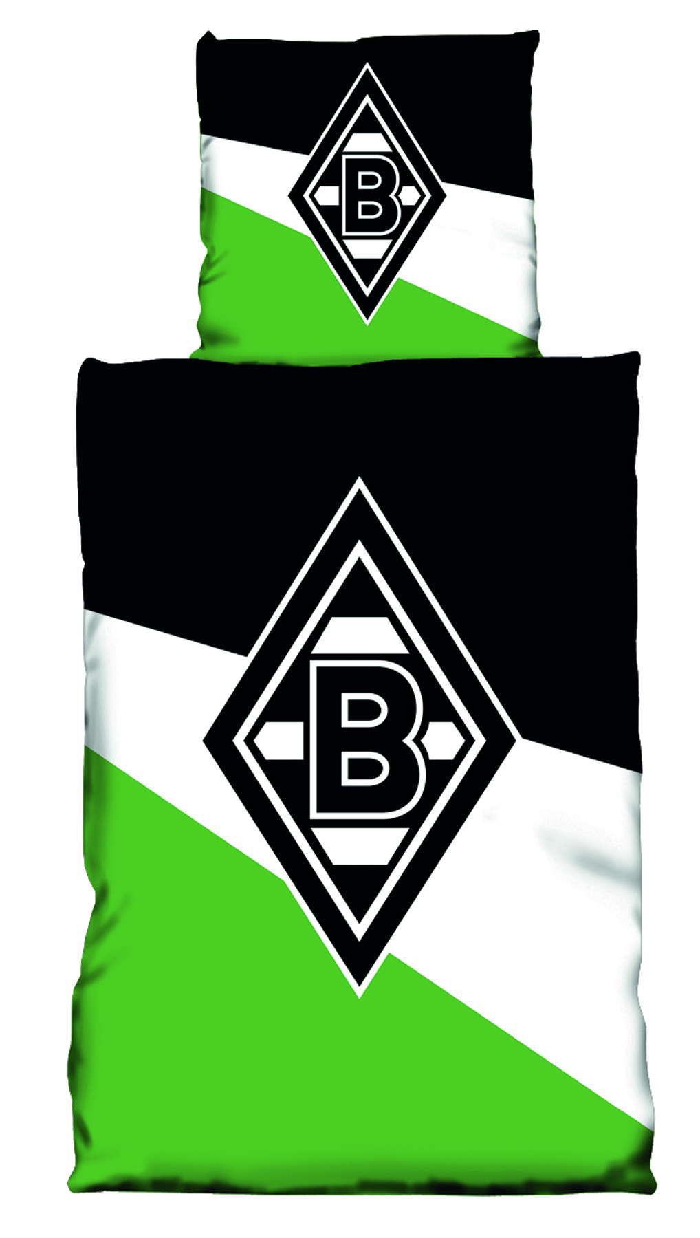 Borussia Mönchengladbach Bettwäsche Schrägstreifen